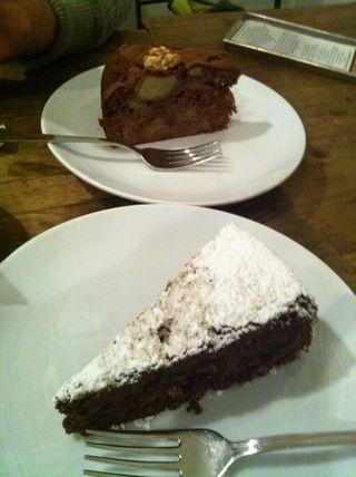 Choc.pear & choc.almond cake